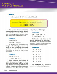 GAMSAT Math review of basic operations