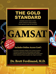 Gold Standard GAMSAT textbook front cover