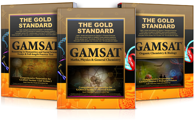 Gold Standard GAMSAT Preparation Textbooks with Practice Paper and Worked Problems (Australia, Ireland, UK)